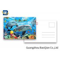 Wholesale Durable Dolphin 3D Lenticular Postcards CMYK UV Offset Printing Cartoon Design from china suppliers