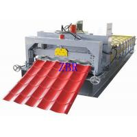 Wholesale 380V 3 Phase Glazed Tile Roll Forming Machine , Corrugated Sheet Making Machine from china suppliers