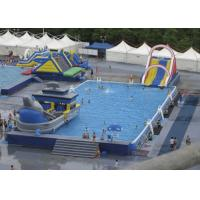 Quality Summer Water Slide Amusement Park Above Ground Metal Pool Playground Equipment Use for sale