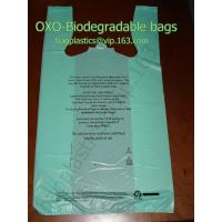 Wholesale oxo-bio bag, vest carrier, carrier bag, shopping bags, shopper, handy bag, handle bags from china suppliers
