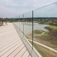 Wholesale Exterior Frameless Glass Deck Railing with Aluminum U Channel Profile / U Channel Glass Balustrade from china suppliers