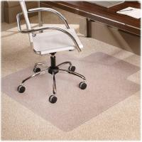 China Smooth Clear Studded Chair Mat For Thick Carpet , Office Floor Protection Mats on sale