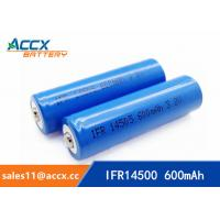 Quality shaver battery lithium ifr14500 3.2v 600mAh AA rechargeable battery for sale