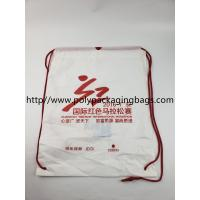 Wholesale Two Layer CPE / LDPE Plastic Drawstring Backpack Bags With Logo from china suppliers