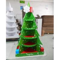 Wholesale Christmas Tree Cardboard Floor Display stand full color printing,cardboard retail display for store fixsture from china suppliers