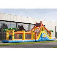 Wholesale Competive Bounce House Obstacle Course Jumpers Run Beach 17.5m For Adult from china suppliers
