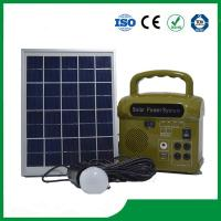 Wholesale 10w mini solar kit lighting home system with charger, MP3, FM radio from china suppliers