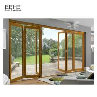 Wholesale Black Stackable Aluminium Folding Doors Opens Up Patio Spaces Completely from china suppliers