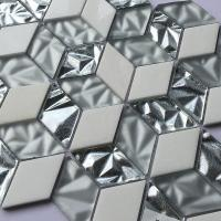 China Non Slip Crystal Glass Mosaic Tiles Washroom Hexagon Shaped Floor Tile 300X300 on sale