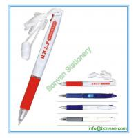 Wholesale two color ball pen with lanyard,lanyard multicolor ball pen from china suppliers