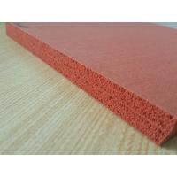 Quality Double Sides Impression Fabric Silicone Sponge Sheet , Silicone Foam Sheet Heat Insulation for sale