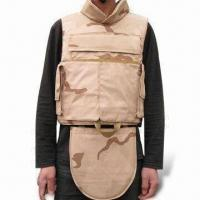 Wholesale Desert Camo Bulletproof Vest with NIJIIIA/NIJIII/NIJIV Protection Levels and Kevlar Material from china suppliers