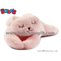 Wholesale Soft Plush Pink Color Rabbit Stuffed Animal Toy Long Bunny Body Pillow from china suppliers