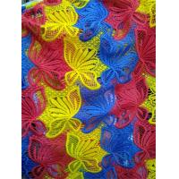 Wholesale Customized Factory supply Colorful embroidery polyster lace fabrics from china suppliers