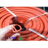 Buy cheap orange color E section silicone seal for oven,E shape  silicone strips from wholesalers