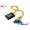 2.0MM PLC Fiber Optic Splitter 1*16 ABS Box Module SC PC Connectors for FTTH for sale