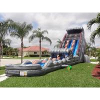 Wholesale Amusement Park 30 FT 2 Lane Inflatable Water Slides Custom PVC Waterproof from china suppliers