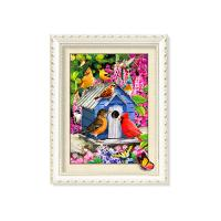 Wholesale 30x40cm 5D Pictures With Plastic White Frame For Office Decoration from china suppliers