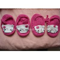 Quality 9cm Soft CrochetToddler Shoes Breathable 100% Acrylic Hello Kitty Pattern for sale