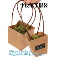 Buy cheap Recycled Fashion Design Flat Paper Handle Kraft Gift Bag Flower Carrier Bag from wholesalers