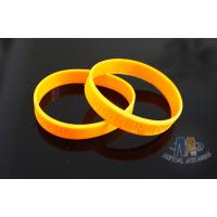 Custom Plastic Bracelets PVC Wristbands Gold Color With Letters 212mm Size for sale