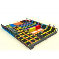 Mall Playground Equipment Kids Trampoline Park With Nylon Mesh And Pearl Cotton