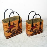 China Gift Basket Faux Leather Tote factory tote basket storage as gift basket on sale