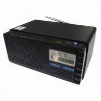 Wholesale FM Radio Wooden Card Portable Speaker with Built-in Active Amplifier from china suppliers