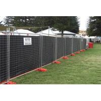 Hot dipped galvanized temporary security fence for