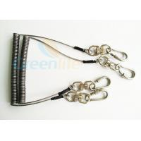 Wholesale Steel Spring Coil Tool Lanyard With 8 Shape Swivel / Stainless Carabiner from china suppliers