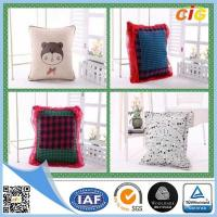 Buy cheap Polyester Fabric Washable Car / Sofa Seat Cushion Covers With Filling for Home Decor from wholesalers