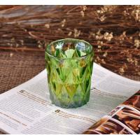 Wholesale OEM Ion Plating Decorative Glassware Candle Container , Decorative Glass Jars In Green Brown from china suppliers