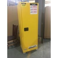 Wholesale Yellow Industrial Safety Cabinets , Flame Proof Storage Cabinets With Double Lock with wheel from china suppliers