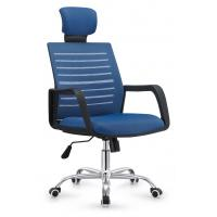China Stylish Design Folding Back Office Chair , Blue Computer Desk Chairs For Home on sale
