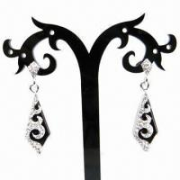 Wholesale Fashionable Rhinestone Drop Earrings, Ice Shape from china suppliers