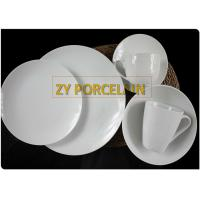 Lucerne White 24 Piece Coupe Dinnerware Set No Harmful Heavy Metal Made Manually for sale