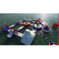 China Floating Inflatable Water Park Entertainment Wake Island Inflatable Aqua Park on sale