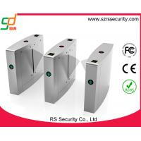 Quality Pedestrian Metal Flap Barrier Gate , Stainless Steel Access Control Gate Turnstile for sale