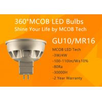 Wholesale MCOB 4W GU10 LED Bulb,50W Halogen Light Bulbs Replacement,Super Bright GU10 Spotlight,440lm,120° from china suppliers