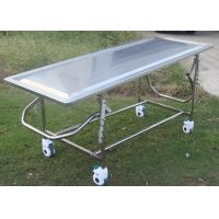 Buy cheap Adjustable Mortuary Equipment Embalming Operating Autopsy Table of Stainless Steel from wholesalers