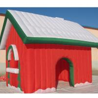 Buy cheap Factory Customized Christmas Holiday Decoration Fabric Inflatable Toy House from wholesalers