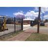 2.4m x 2.4m SHS 65mm tube black garrison garden fence panels security spear top tubular steel fencing for sale