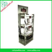 Wholesale Free Standing Promotion wine drinks display cabinet Rack paper Supermarket advertising tables Beverage for vodka from china suppliers