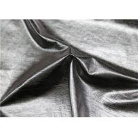 Wholesale Dry Process Polyester Faux Leather , Silver Fake Leather Fabric For Ladies ' Garment from china suppliers