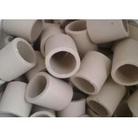 China Simple Shape Ceramic Tower Packing / Ceramic Raschig Rings High Mechanical Stability on sale