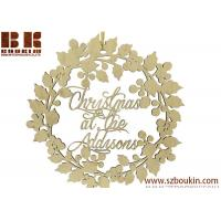 Christmas at the Personalised Wreath - Wooden Garland - Christmas Gift
