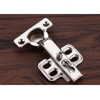 Close Tail Cabinet Door Hinges Four Holes 26mm Cup Nickel Plated for sale
