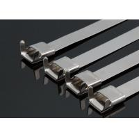 Buy cheap Insulation Stainless Steel Tyraps With Wing Seals , Metal Pipe Ties Heavy Duty from wholesalers