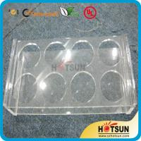 Quality China factory wholesale black or clear colored acrylic shot glass serving holder for sale