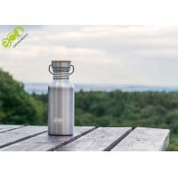 China Popular Outdoor Products Stainless Steel Water Bottle With Bamboo Lid on sale